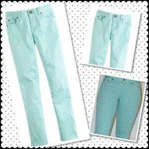 J Crew Matchstick Dotted Jeans Sz 26